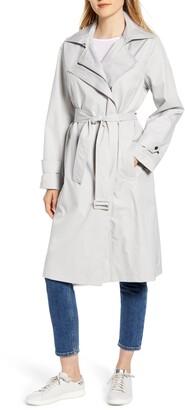 Bernardo Hooded Water Resistant Trench Coat