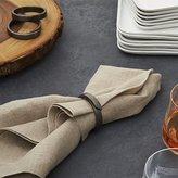 Crate & Barrel Wrap Black Napkin Ring