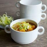 Sur La Table Double-Handle Soup Bowls, Set of 4