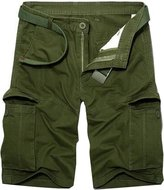 jeansian Men's Summer Causal Multi-pocket Cargo Shorts Pants S501