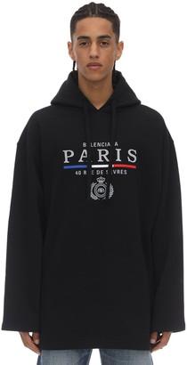 Balenciaga Oversize Embroidered Sweatshirt Hoodie