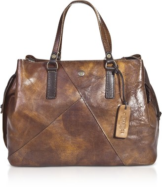 Chiarugi Genuine Leather Large Satchel Bag