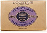 L'Occitane Extra-Gentle Vegetable Based Soap Enriched with Shea Butter - Lavender Scent, 8.8 oz.