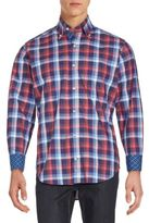 Tailorbyrd Lake Hartwell Plaid Button-Down Shirt