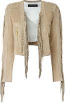 Balmain fringed cropped jacket