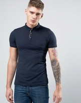 Brave Soul Plain Jersey Contast Inside Placket Polo