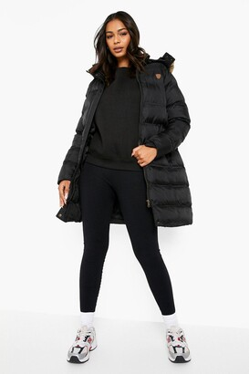 boohoo Longline Padded Faux Fur Hooded Jacket