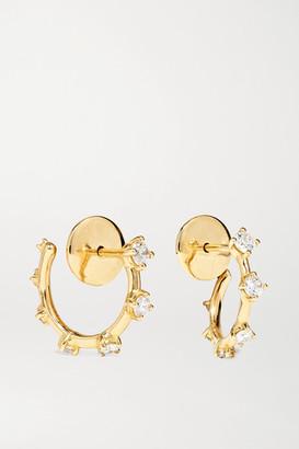 Fernando Jorge Sequence Small 18-karat Gold Diamond Hoop Earrings