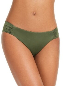 Bar III Sunset Solids Side-Shirred Hipster Bikini Bottoms, Created for Macy's Women's Swimsuit