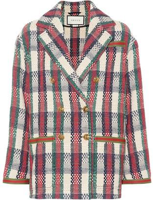 Gucci Cotton-blend woven jacket