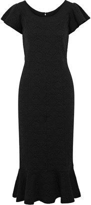 Opening Ceremony Fluted Matelasse Midi Dress