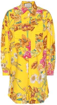 Gucci Floral-printed cotton shirt