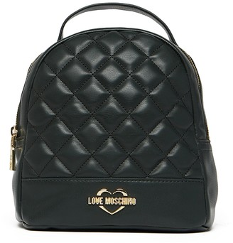 Love Moschino Quilted PU Backpack