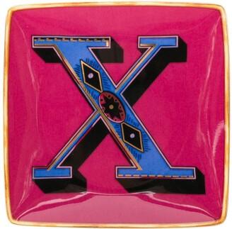 Versace Home Alphabet X plate (12cm)