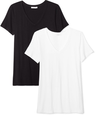 Daily Ritual Women's Jersey Short-Sleeve V-Neck T-Shirt XL