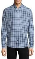 Zachary Prell Lobban Checkered Cotton Button-Down Shirt