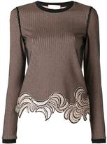 3.1 Phillip Lim sequin embroidered top - women - Polyester/Spandex/Elastane/Viscose - 4