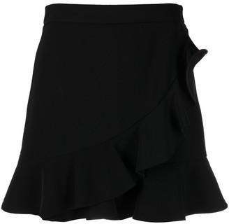 Boutique Moschino Ruffle-Hem Wrap Shorts