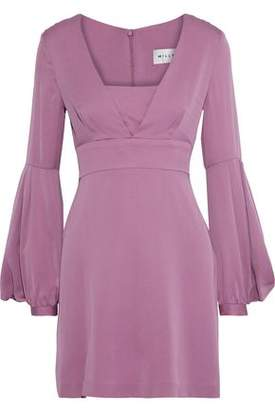 Milly Kayla Gathered Stretch-silk Mini Dress