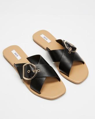 Dazie - Women's Black Flat Sandals - Cassie Slides - Size 8 at The Iconic