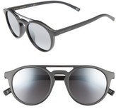 Marc Jacobs Women's 99Mm Round Brow Bar Sunglasses - Dark Grey