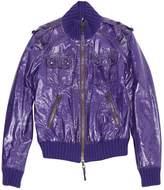 Frankie Morello Purple Leather Jacket for Women