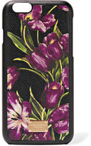Dolce & Gabbana Floral-print Textured-leather Iphone 6 Case - Purple