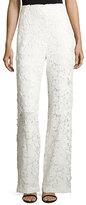 Sachin + Babi Floral Lace Wide-Leg Pants, Ivory