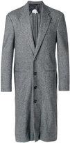 Maison Margiela layered placket long coat - men - Cotton/Viscose/Wool - 46