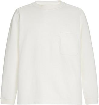 Blue Blue Japan Slub Cotton Side-Slit Pullover Shirt