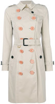 Burberry belted trench coat - women - Cotton/Viscose - 14