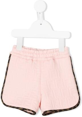 Fendi Kids FF pattern shorts