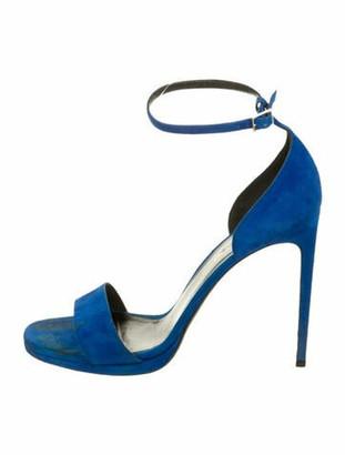 Saint Laurent Suede Sandals Blue