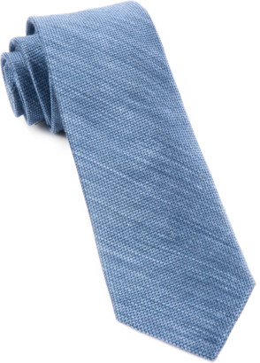 Tie Bar Festival Textured Solid Slate Blue Tie