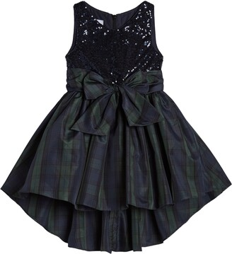 Pippa & Julie Kids' Sequin Bodice Plaid Dress