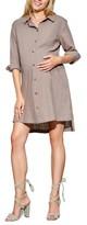Maternal America Women's High/low Maternity Shirtdress