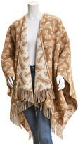 Burberry Monogram Wool & Cashmere-Blend Cape