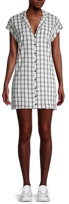 BCBGeneration Plaid Mini Shirtdress