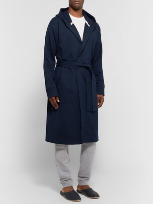 Reigning Champ Melange Loopback Cotton-Jersey Hooded Robe