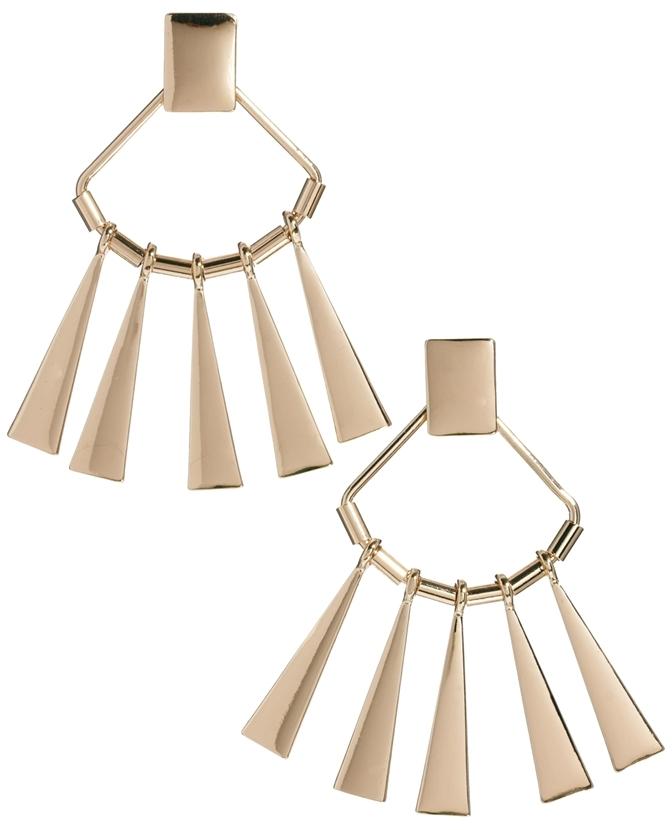 Asos Metal Fan Chandelier Earrings
