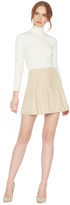 Alice + Olivia Champagne Lee Suede Mini Skirt