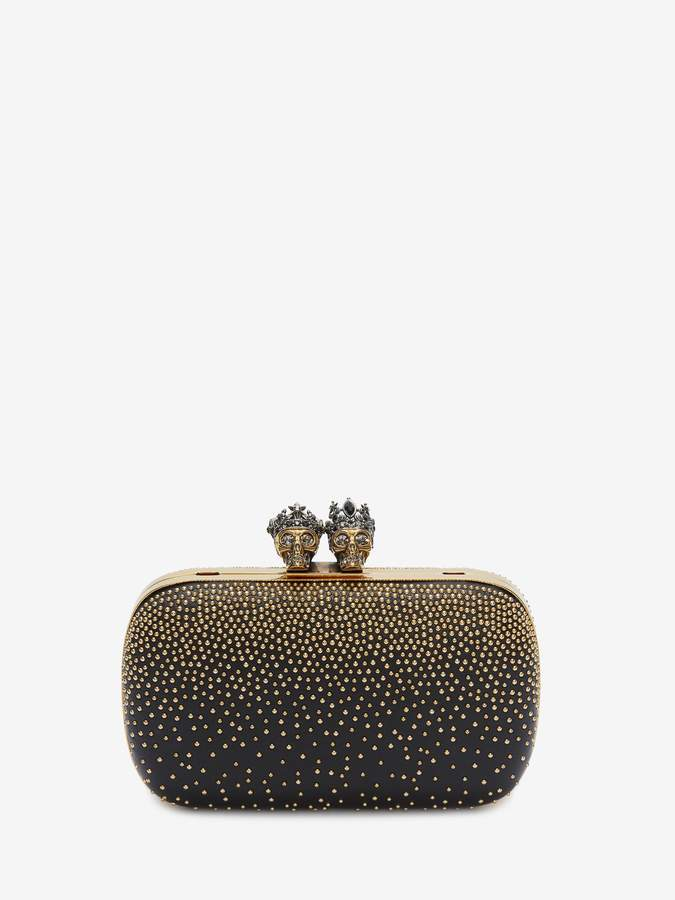 Alexander McQueen Queen and King Embellished Clutch