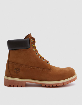 Timberland Men's 6 in. Premium Boot in Rust Nubuck, Size 8 | Leather