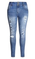 City Chic Patched Skinny Asha Jean