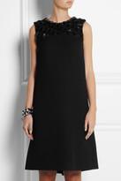 Marni Embellished crepe shift dress