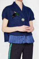 Marni Embellished Brooch with Leather