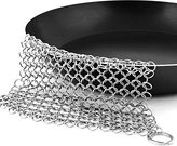 Cast-iron Cleaner Stainless-Steel Chainmail Scrubber for Skillet, Pan, Griddle and Wok by Utopia Kitchen