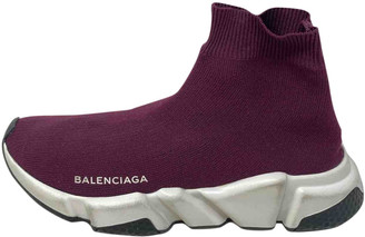 Balenciaga Speed Burgundy Cloth Trainers
