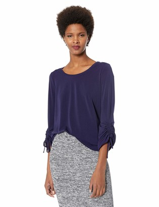 Chaus Women's Long Ruched Sleeve Top