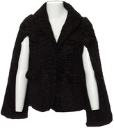 Co Black Astrakhan Coat for Women